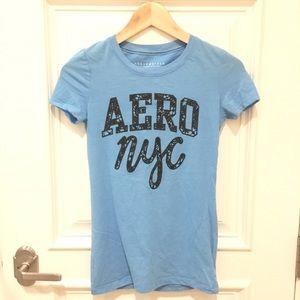 "NWOT Aeropostale Sky Blue Tee ""Aero NYC"""